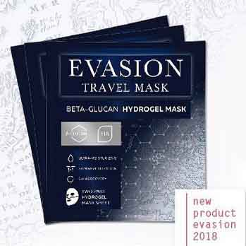 Travel mask, beta-glucan Hydrogel Mask